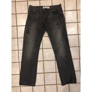 Black Levi's Mens 30x32 Slim Straight Jeans!